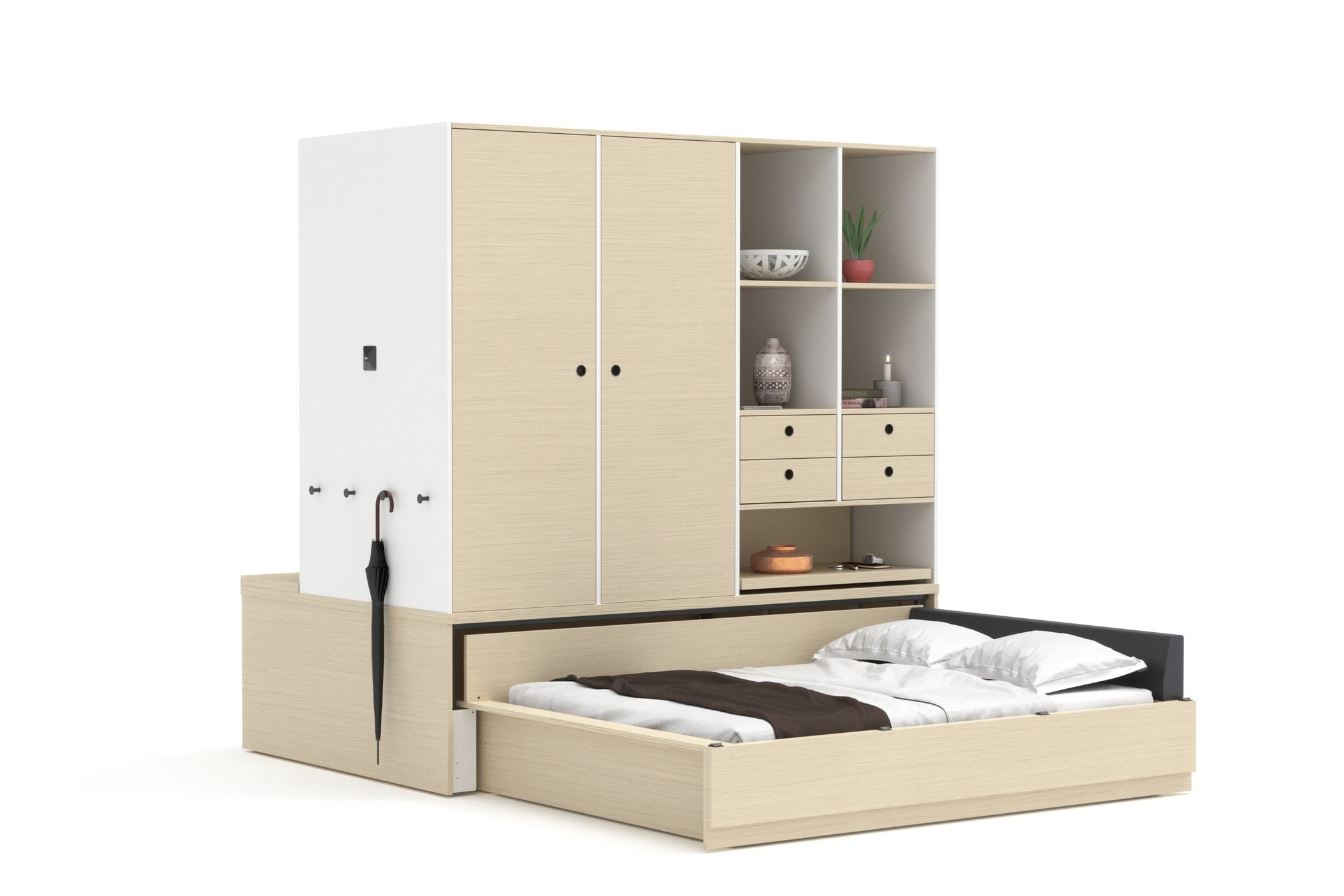 Regular Configuration, bed opens to closet side