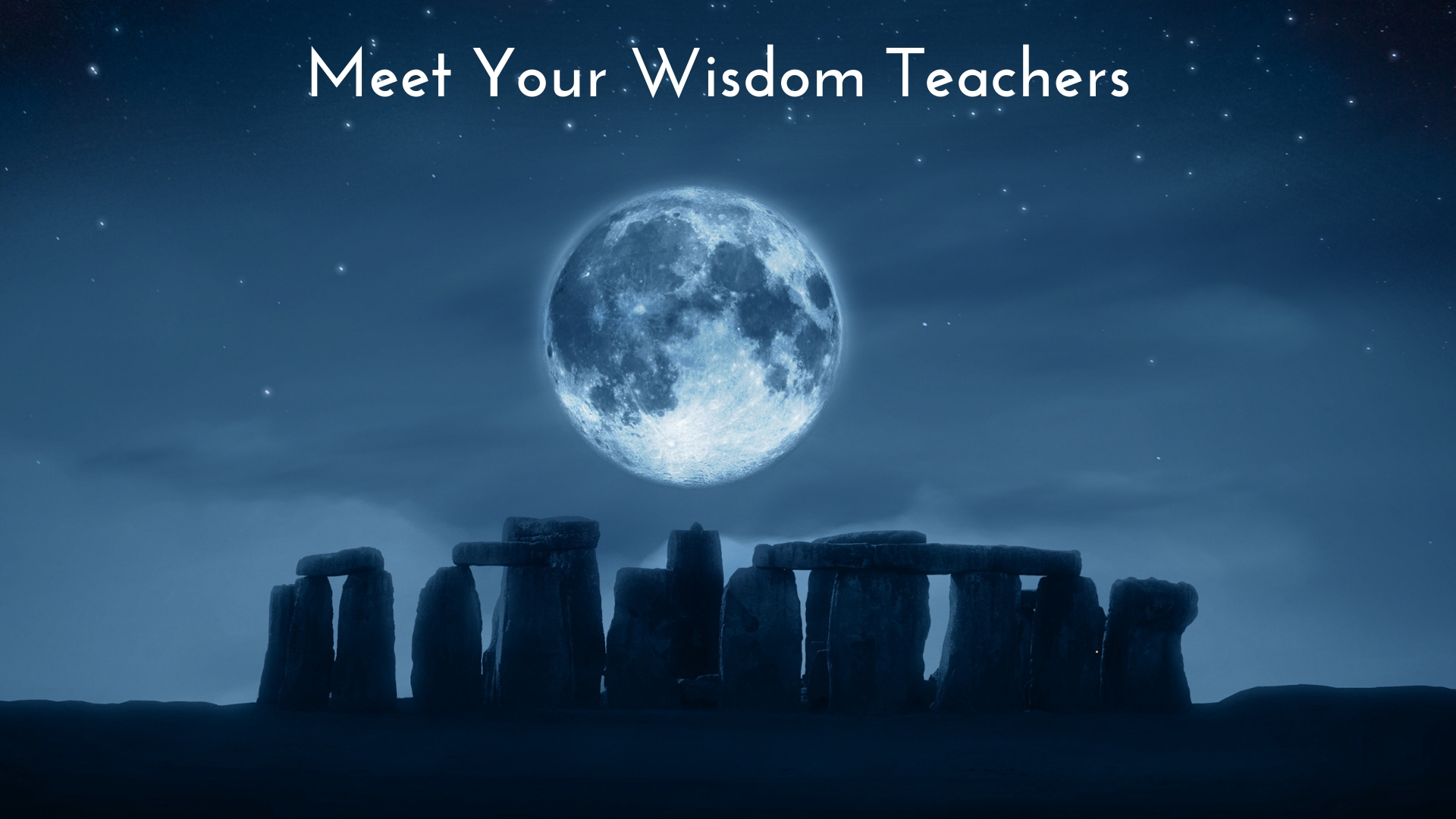 Meet the wisdom teachers - Cissi Williams takes you on a guided journey where you meet your Wisdom Teachers.