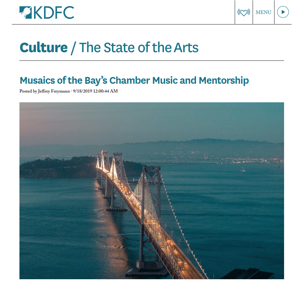 Musaics of the Bay on KDFC's The State of the Arts -