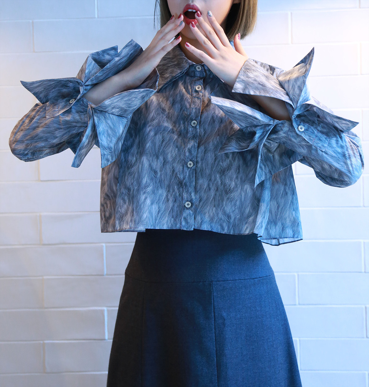 Talent designer CHENCHEN STUDIO who will involved us making the clothes of used recycling materials