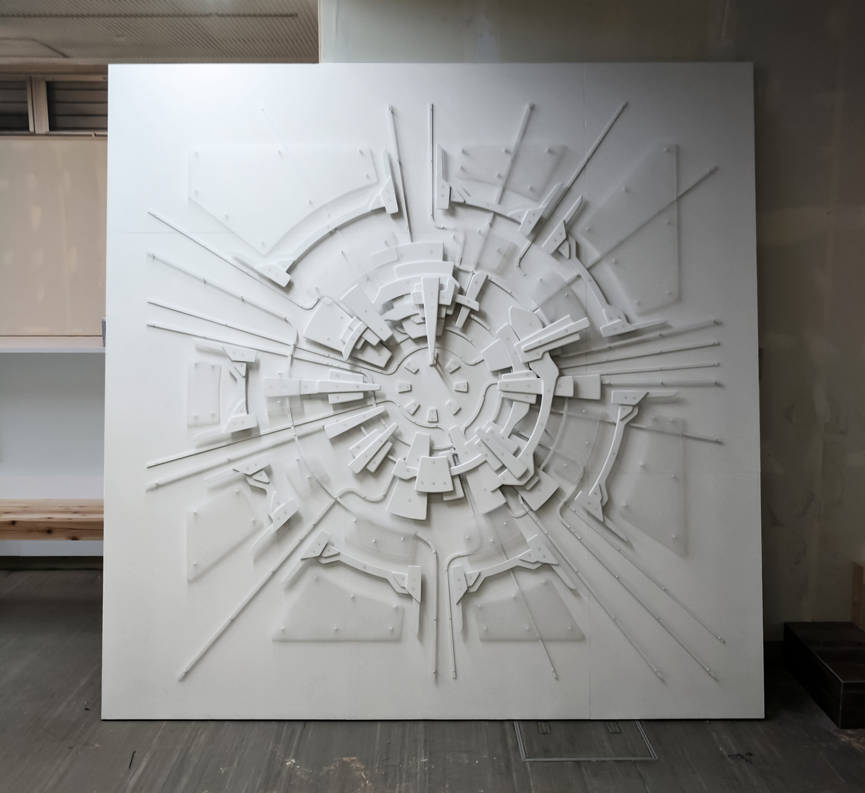 Standing 8ft square,   Base Pairs 01   is on display in the Chojamachi district of Nagoya, Japan