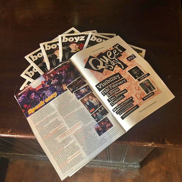 #queersaylondon Catch us in this weeks @boyzmagazine where we sat down with @davecrossx to talk about how the launch of Queersay London No1 went and what to expect from Queersay London No2. Coming to @the2brewers next Thursday, 7th February.  To get your £6 ticket just follow the link: bit.ly/QueersayNo2 and come and have your Queersay! . . . . #visibility #wearequeersay #London #Lgbtq #conversation #talk #event #bringtheconversation #thetwobrewers #clapham #gaylondon #gaybar #gayclub #queertalk #queerevent #queerlondon #boyz #magazine #scene