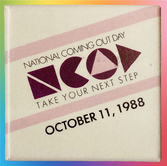 """Hey Everyone - So today is National Coming Out Day and globally celebrates the movement of coming out as a political stand. We thought we would dig in to the archive and celebrate the beginnings of NCOD. Organized in 1988 on the anniversary of the 1987 March on Washington for Lesbian and Gay rights, National Coming Out Day was the brain child of a number of activists living near Washington, D.C. Among these were Jean O'Leary, head of the National Gay Rights Activists, and Rob Eichberg, who founded The Experience, a community-based workshop that helped gay and lesbian people """"Come out"""" to their families and friends. Since the establishment of gay liberation movement groups, coming out had been a popular political tactic to personalize the issues that faced LGBTQ people. The hope was that if enough people came out to their family and friends that this would lead to a sea chance in the way that gays and lesbians were treated both at home and in culture at large.    Here is the original logo design, that was used only for the first few years of the campaign.   . . . . #ncod #nationalcomingoutday #gayamsterdam #queersay #queersayamsterdam #ncodamsterdam #visibility. #wearequeersay #amsterdam #conversation #talk #event #fishbowl #comingsoon #bringtheconversation #lgbtq🌈 #silenceneverchangedanything"""