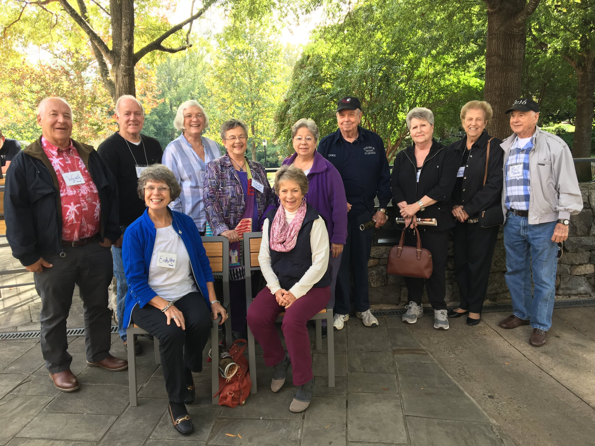 """""""O.W.L.S."""" Older. Wiser. Loving. Seniors. - photo: on recent trip to Falls Park on the Reedy, Greenville, SC"""