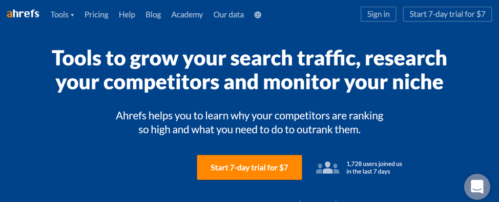 #1 Best SEO TOOL FOR BACKLINK CHECKING AND TRACKING: ahrefs