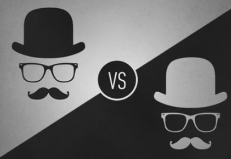 Black hat seo vs. white-hat seo.