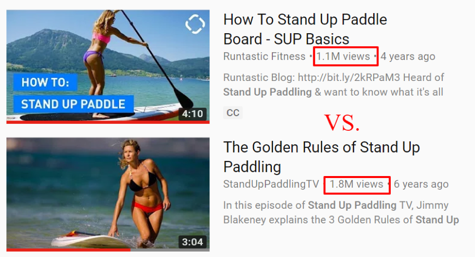 Example of YouTube SEO Ranking Factors and how videos can rank higher.