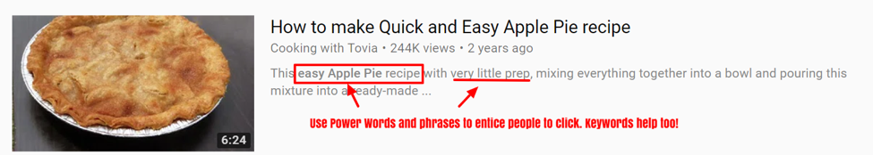 How to write the best descriptions for youtube videos.