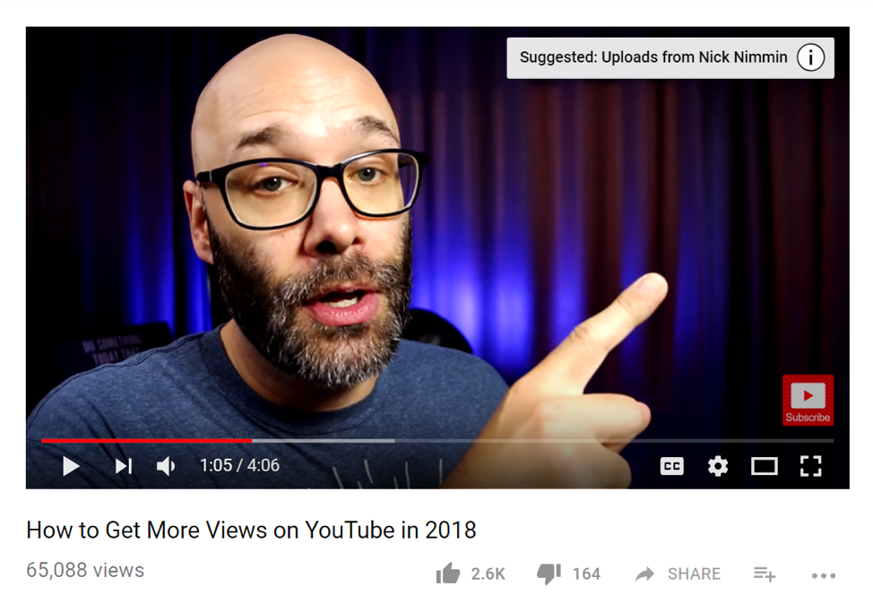 How to get more youtube viewers: make smart cards that convey next steps for viewers.