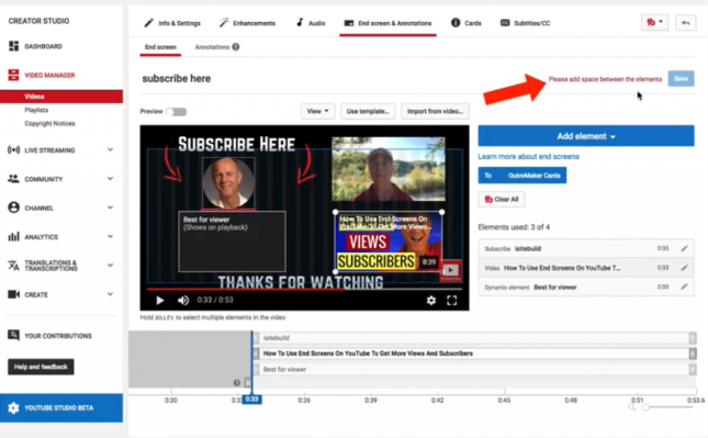 youtube end screens are an opportunity to get more viewers, to have more clicks, and increase your subscribers.