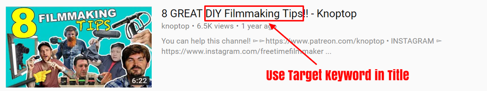 how to optimize youtube videos with keywords.