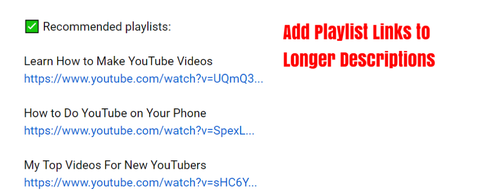 how to create recommended playlists on YouTube.