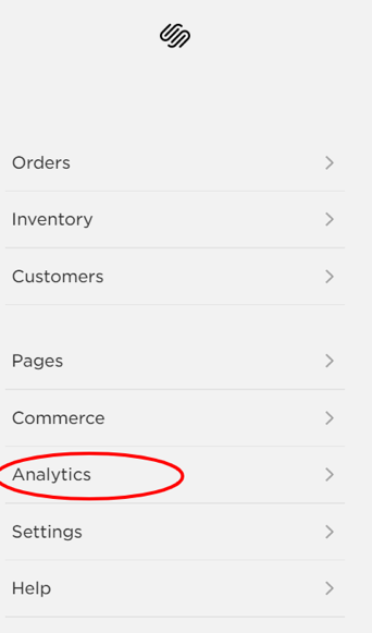 how to setup squarespace analytics.
