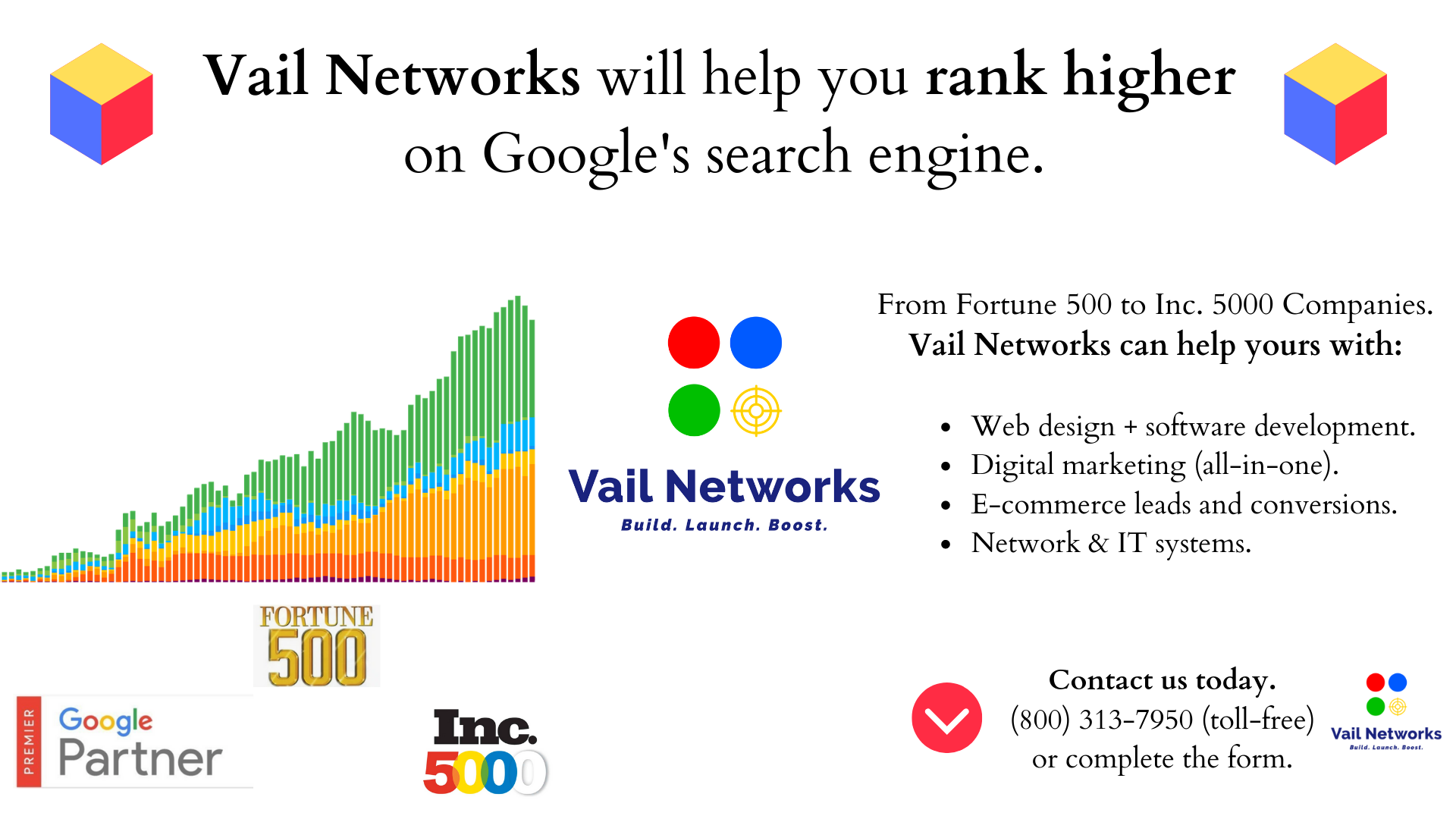 company to help you rank higher on google search: vailnetworks.com