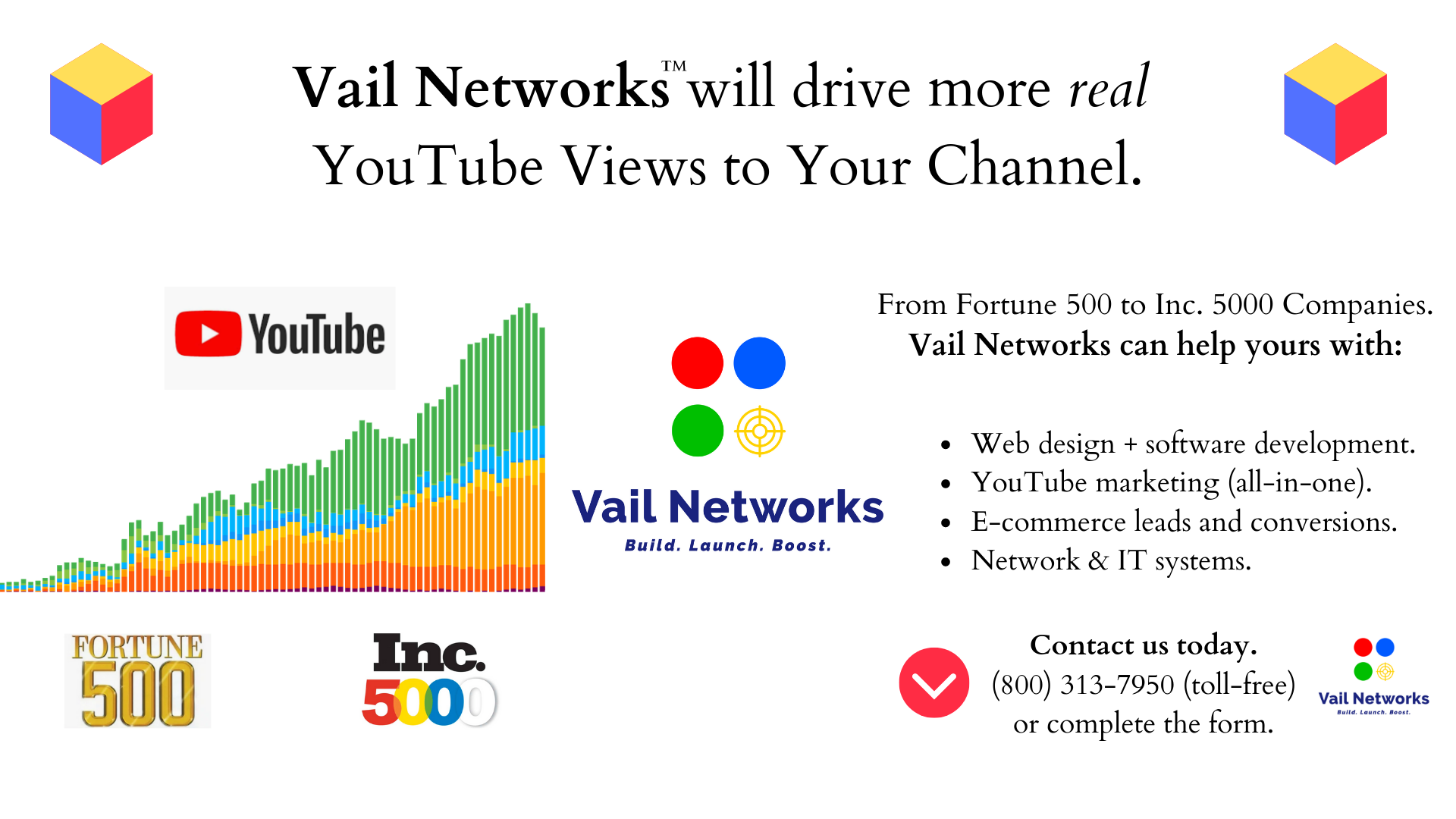 company to help with youtube marketing and advertising campaigns: vailnetworks.com