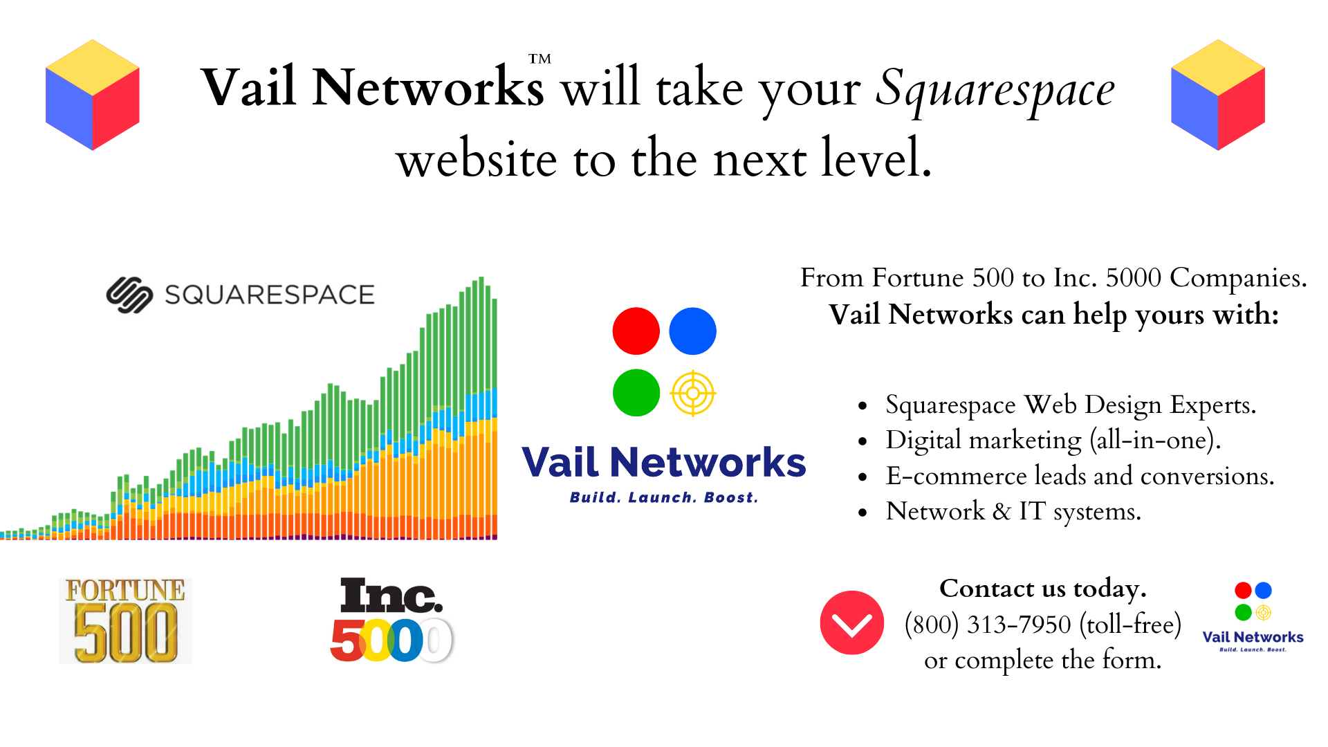 Company to help with squarespace web design and custom development: vailnetworks.com