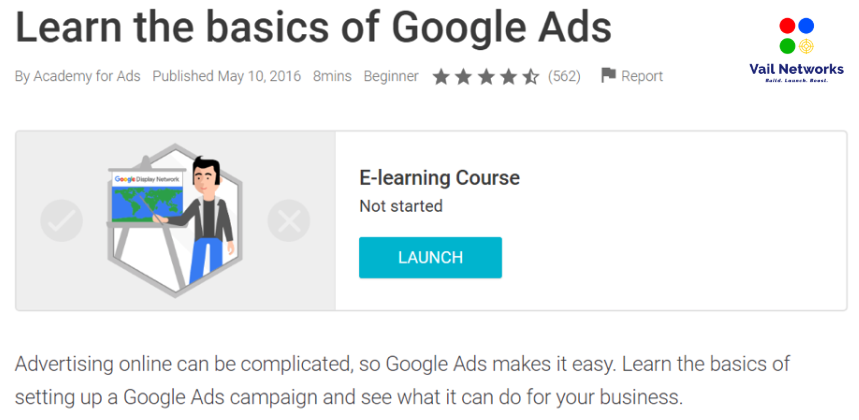 Beginner Course Google Certification.