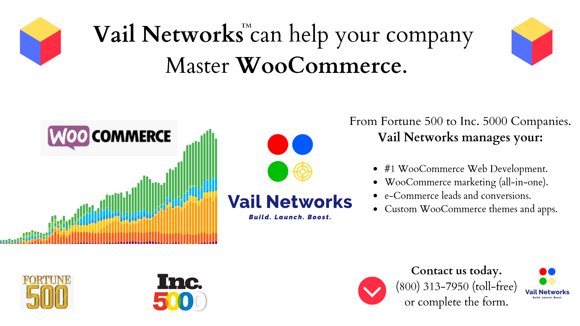 company to help with woocommerce custom web development, marketing and software building: VailNetworks.com