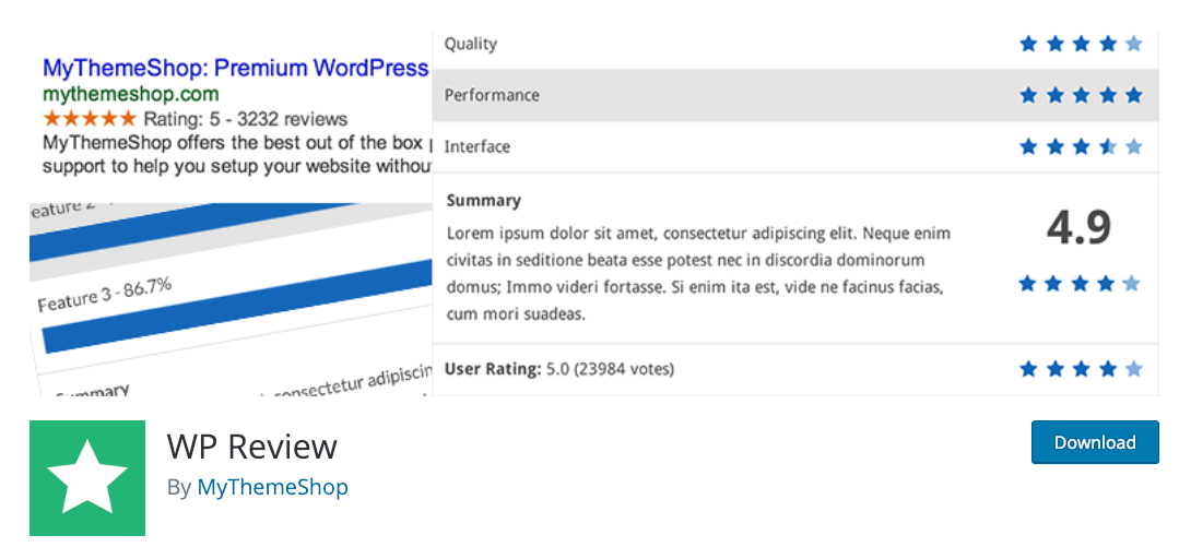 worpress plugin for product reviews.