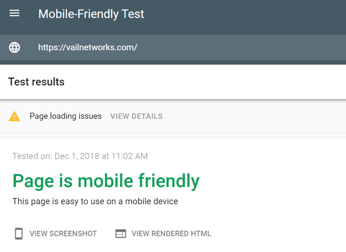 looks like we passed the mobile-friendly google test!