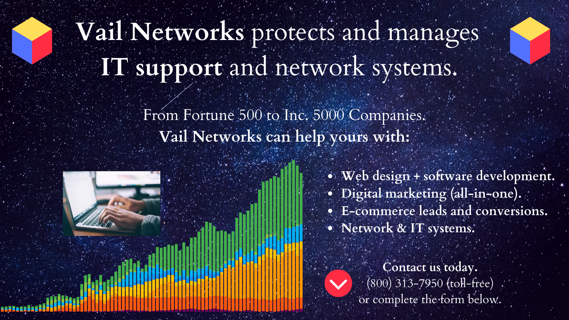 Company to help with IT Support and managed it networks and systems: vailnetworks.com