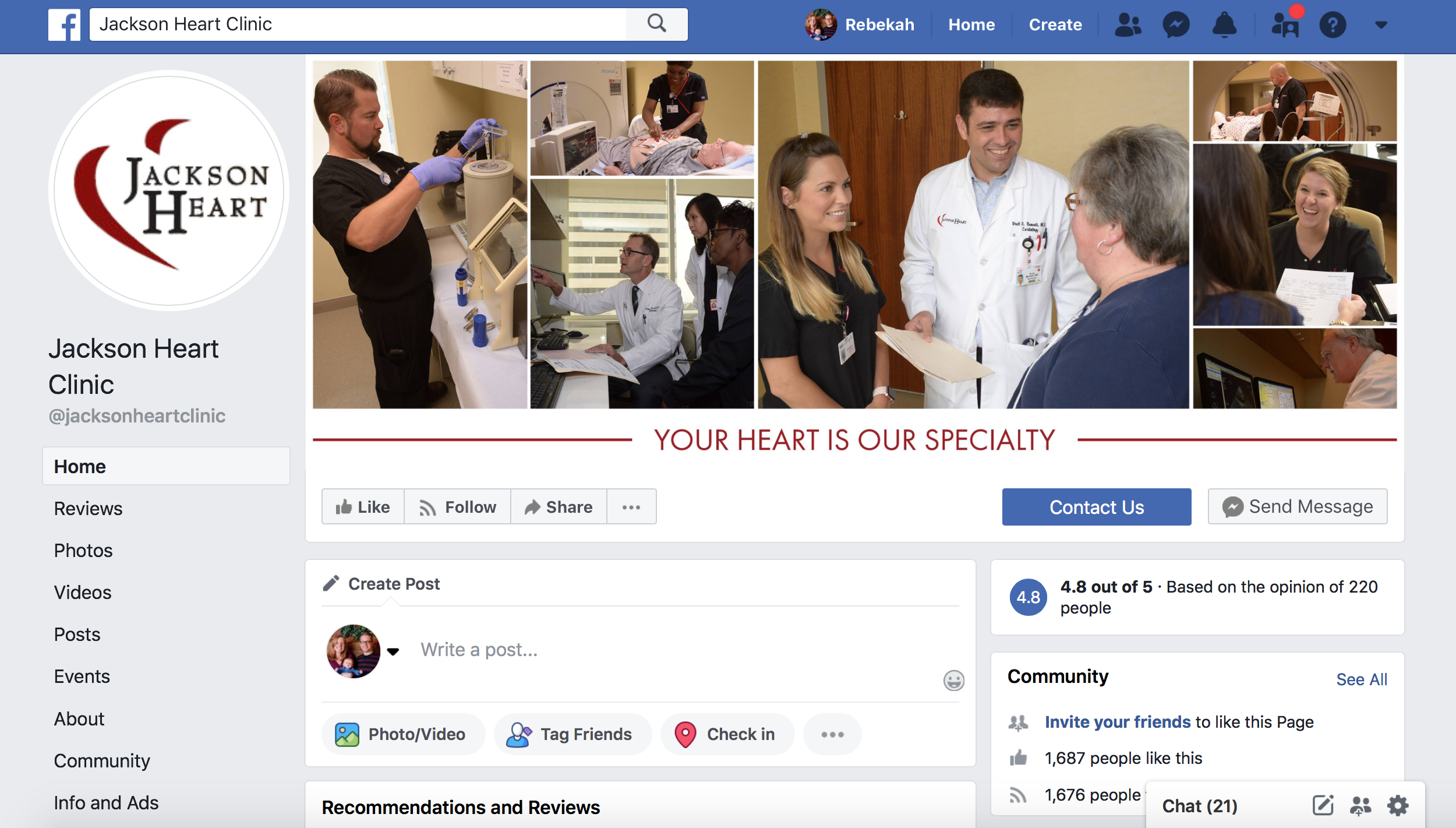 How cardiologists market on facebook
