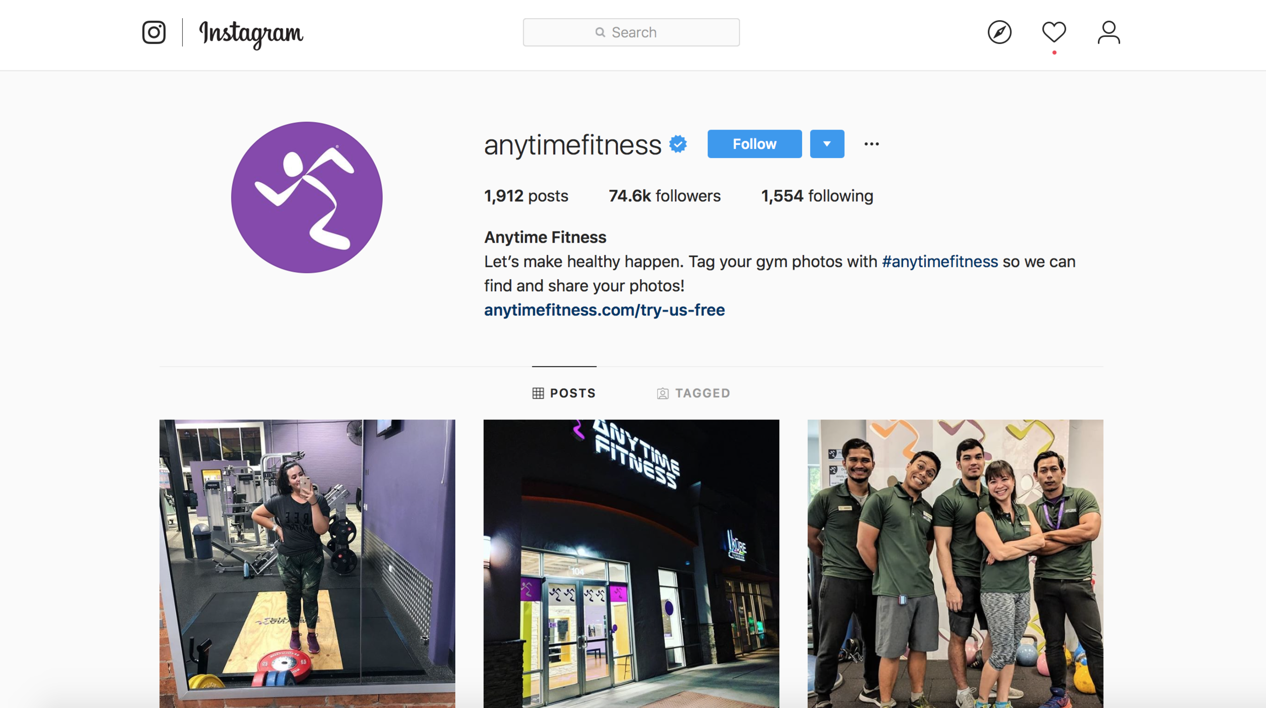 Anytime Fitness Instagram Marketing For Gyms