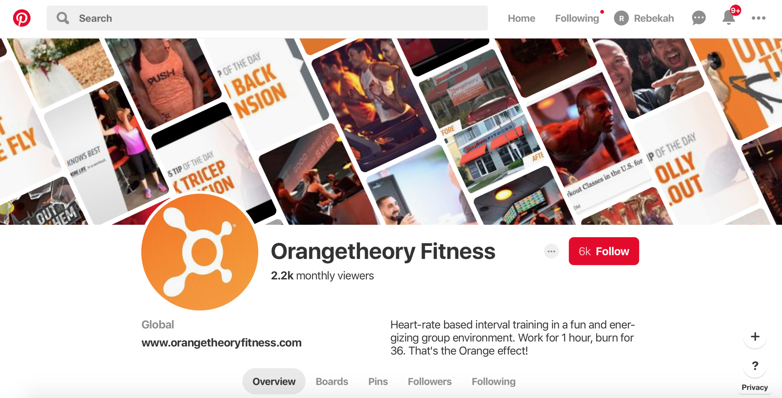 Orange Theory Fitness Pinterest Marketing For Gyms