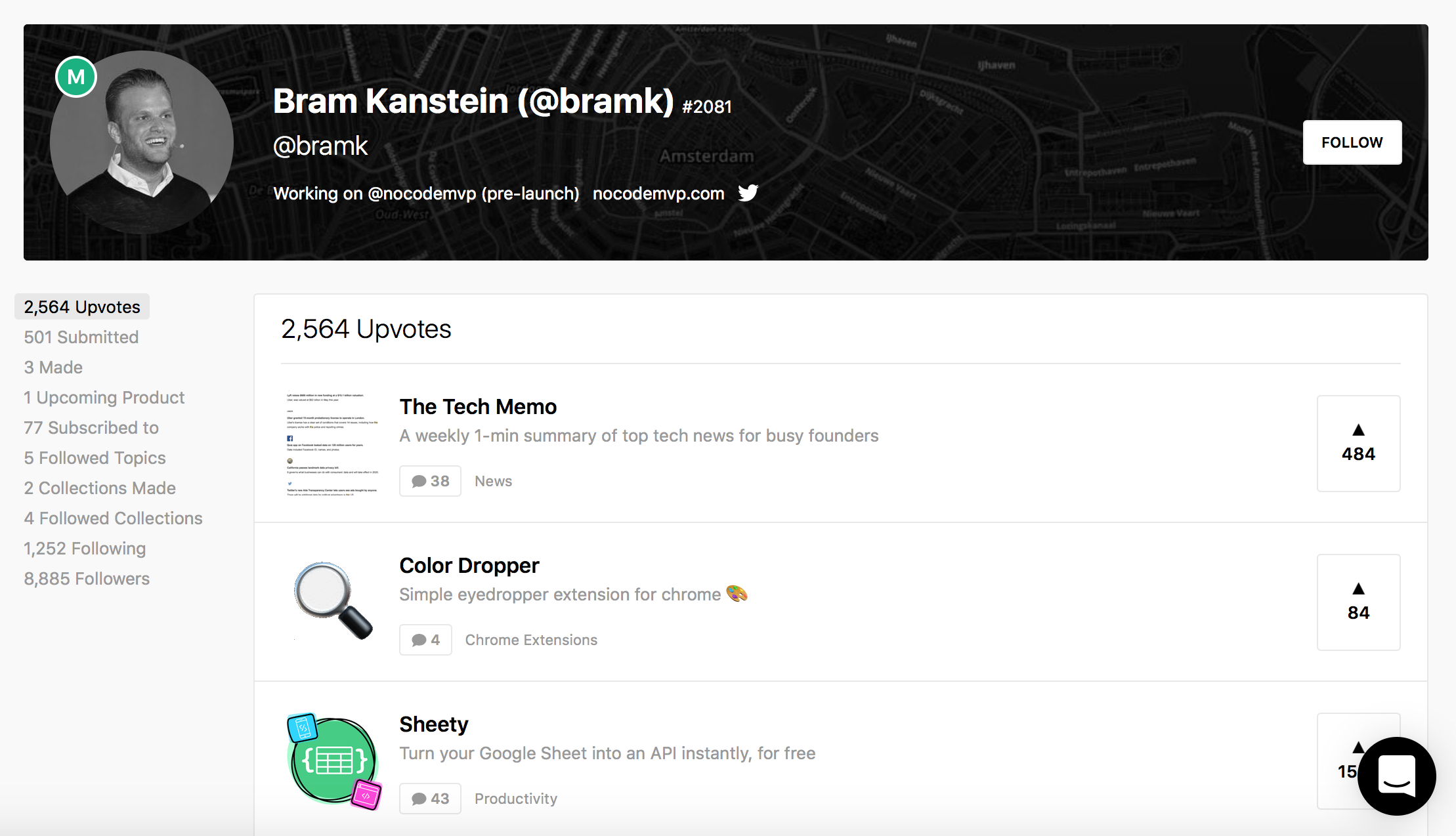Bram Kanstein Software Makers on ProductHunt