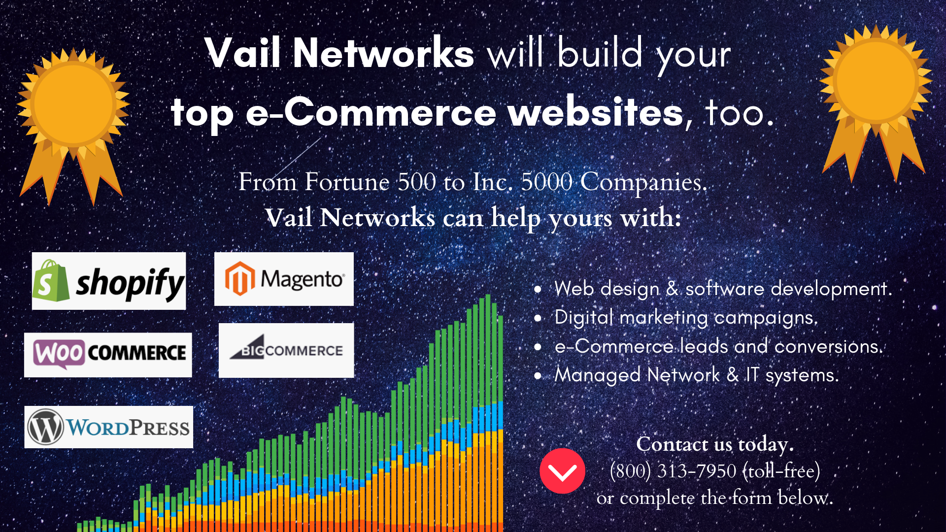 Company to help build, design, and launch e-commerce websites: vailnetworks.com