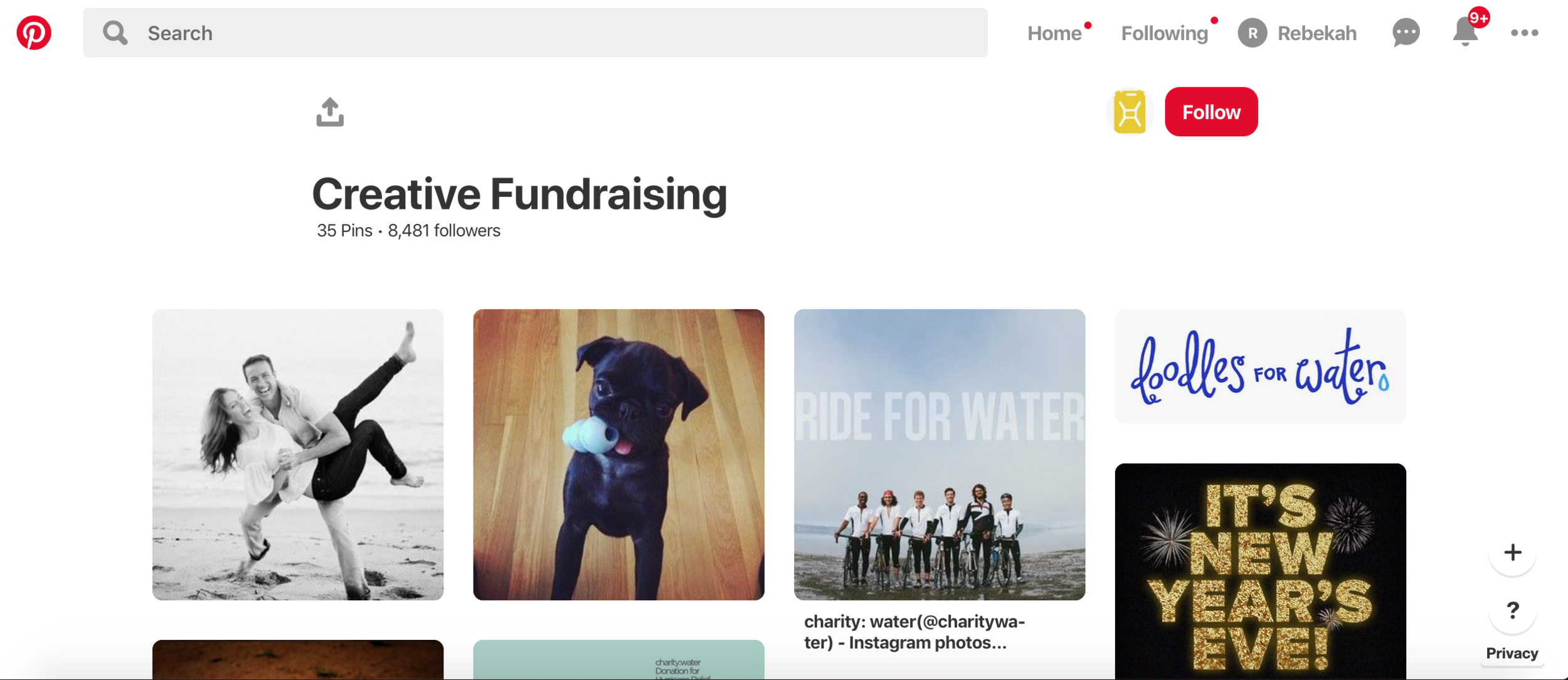 Nonprofit marketing ideas can be creative using pinterest.