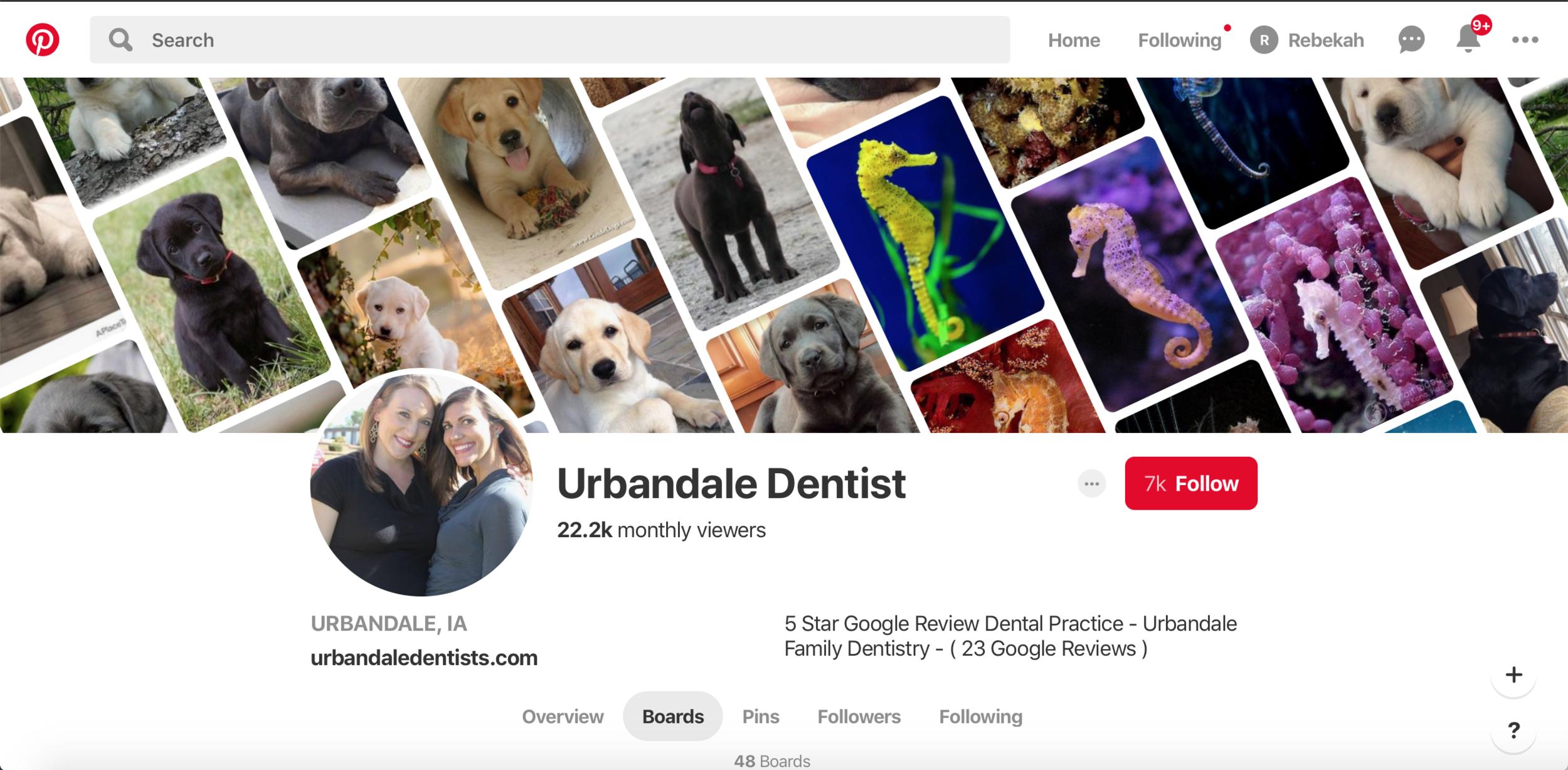 Dentist marketing ideas for social media marketing on Pinterest