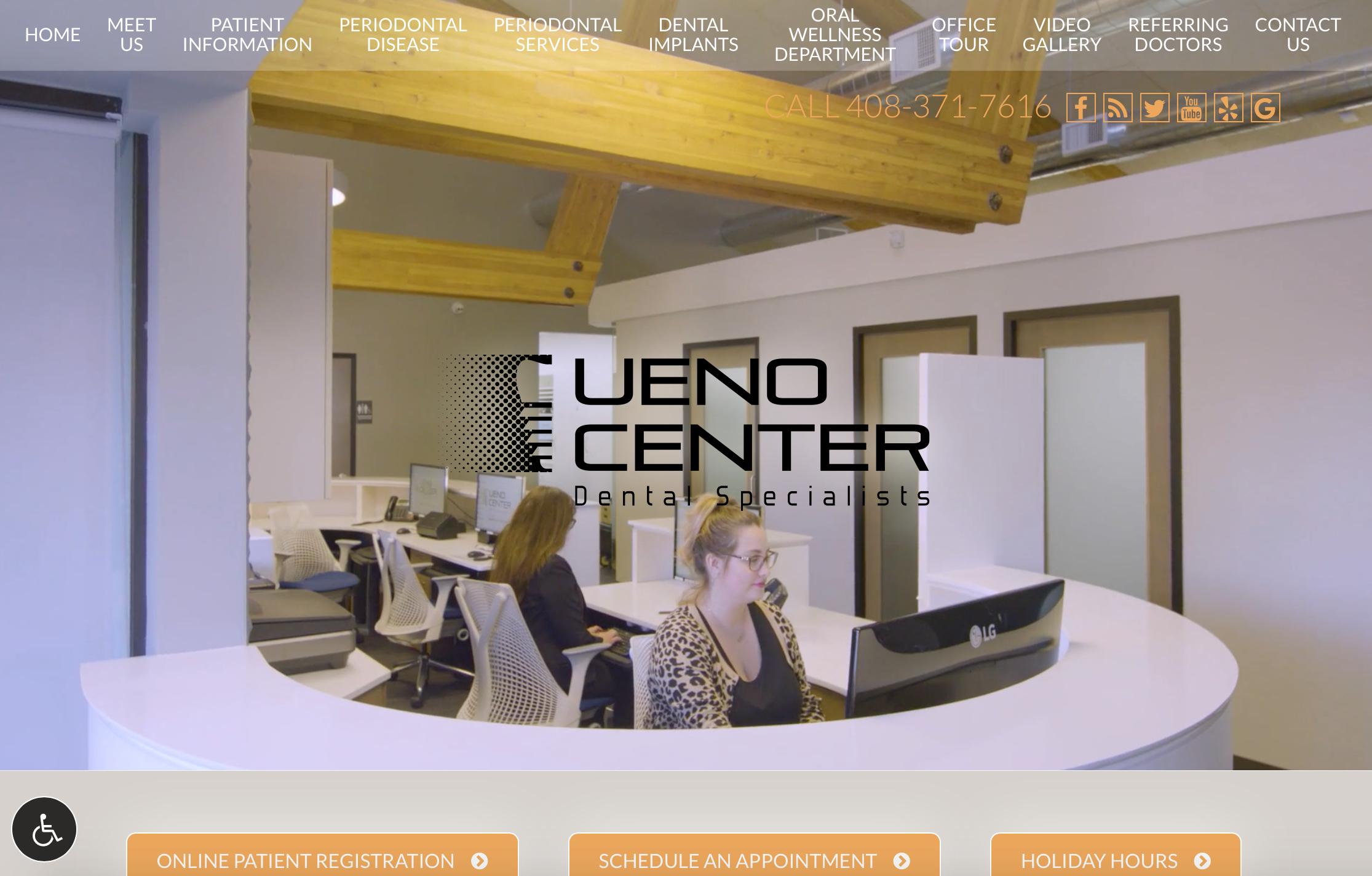 Dental Website strategy Ueno Center Dental Specialists