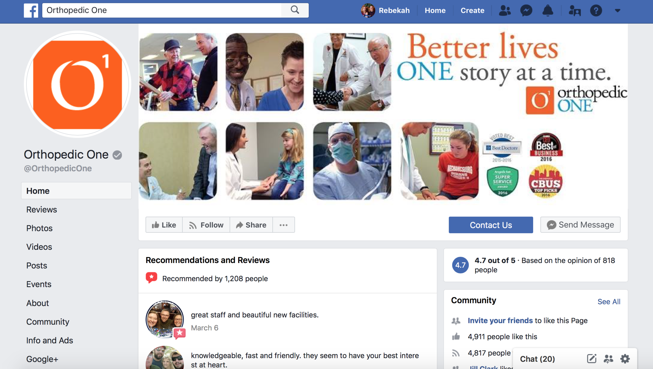 Orthopedic marketing ideas for facebook