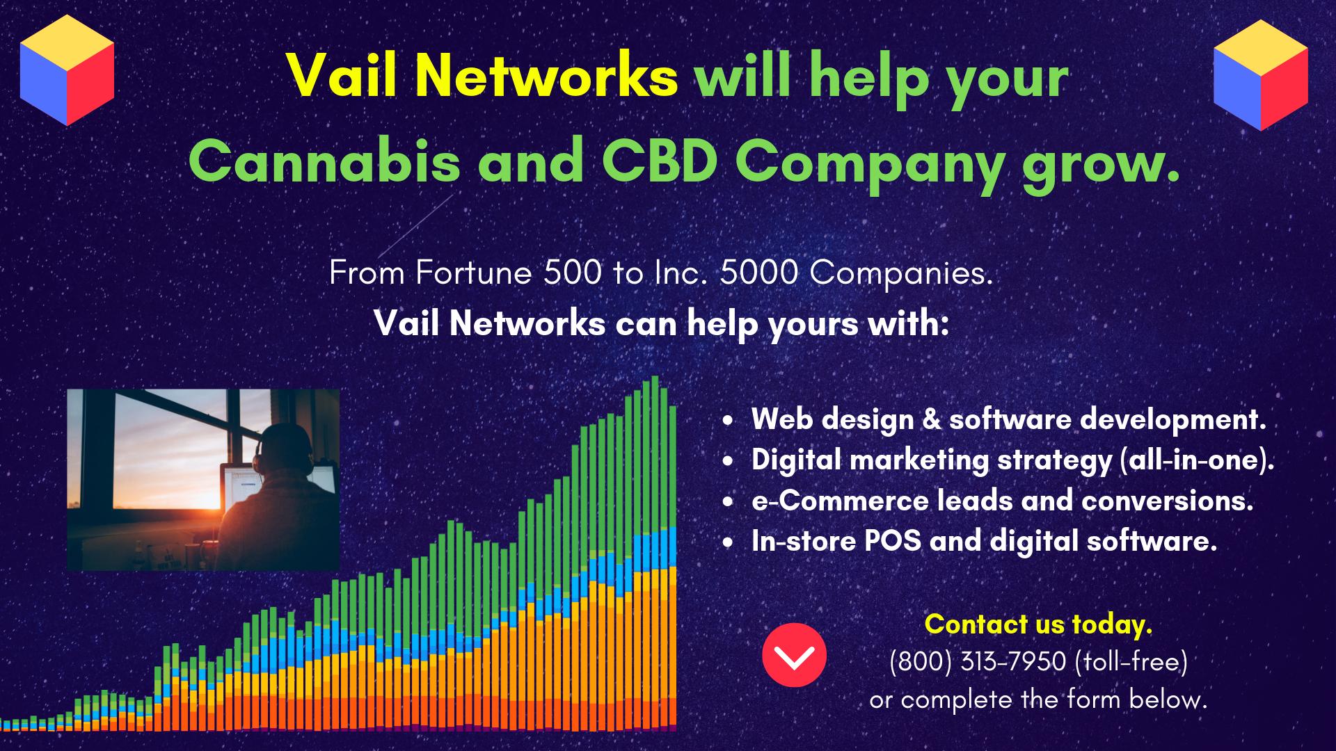 Company to Help with CBD and Cannabis Digital Marketing, SEO, and website design/development: vailnetworks.com