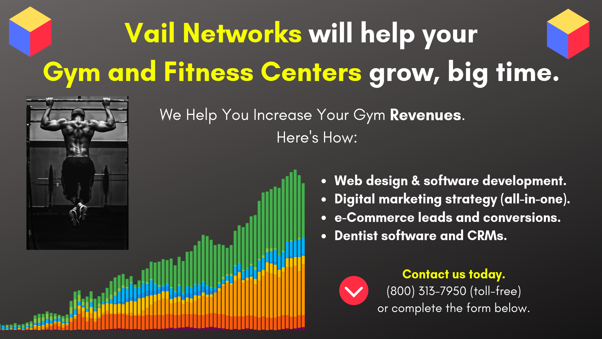 Company to help with gym and fitness center marketing, SEO and website development: vailnetworks.com