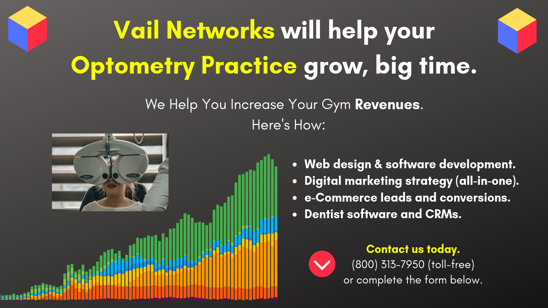 Company to help with Optometry marketing, seo, and website development: by vailnetworks.com