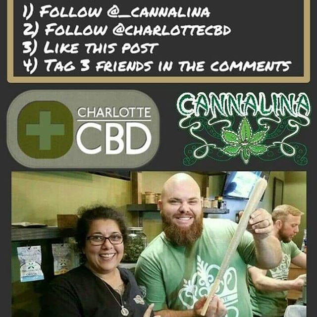 Cannalina Inc and CBD Charlotte are giving away this 95 gram Pre-Roll on Black Friday! Plus, we'll be giving away free Chill Sticks to random winners every day! There are 5 places you can enter to win. On Instagram follow @_cannalina and @charlottecbd and scroll down to those official contest posts, like and tag 3 friends in the comments. On Facebook Like Cannalina Inc and CBD Charlotte then scroll down to the official contest posts like them and tag 3 friends in the comments. And finally, the 5th and coolest place to enter is by stopping by CBD Charlotte on Central Ave to throw your name in the jar for an extra chance to win. Now check out MzGreenJeans podcast and the Jhill Stayready podcast for the latest winners and more chances to win!