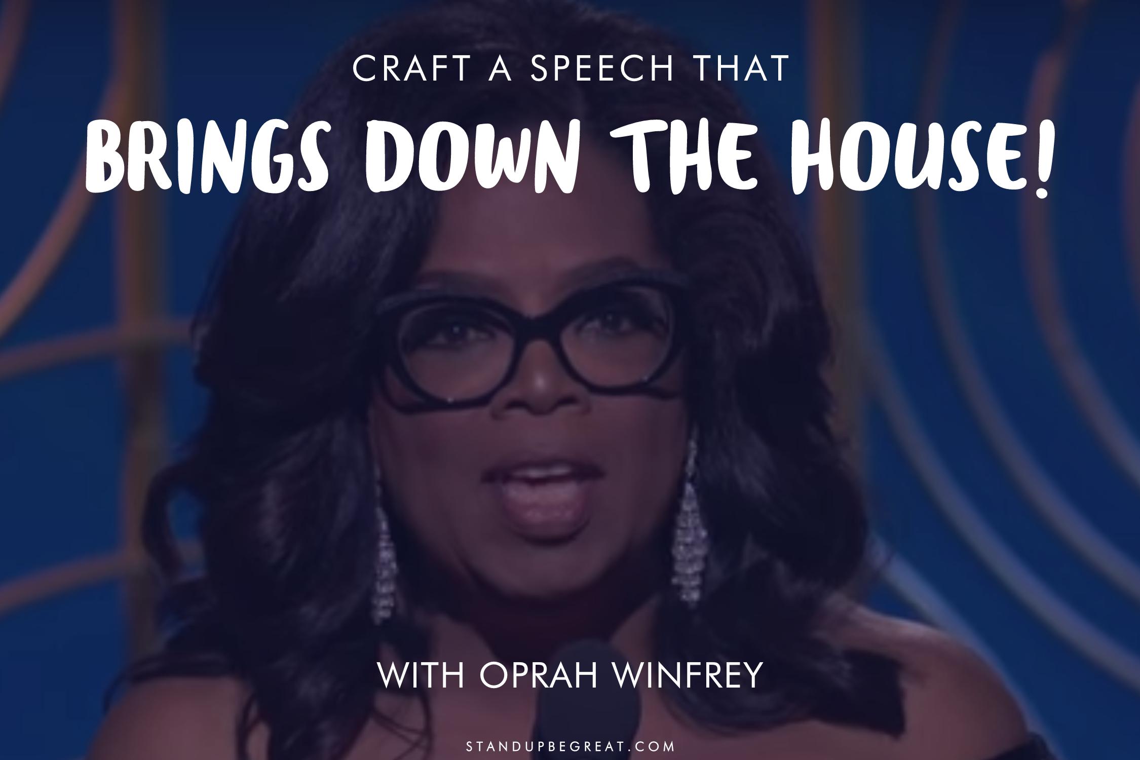Oprah Winfrey receiving the Cecil B. deMille award