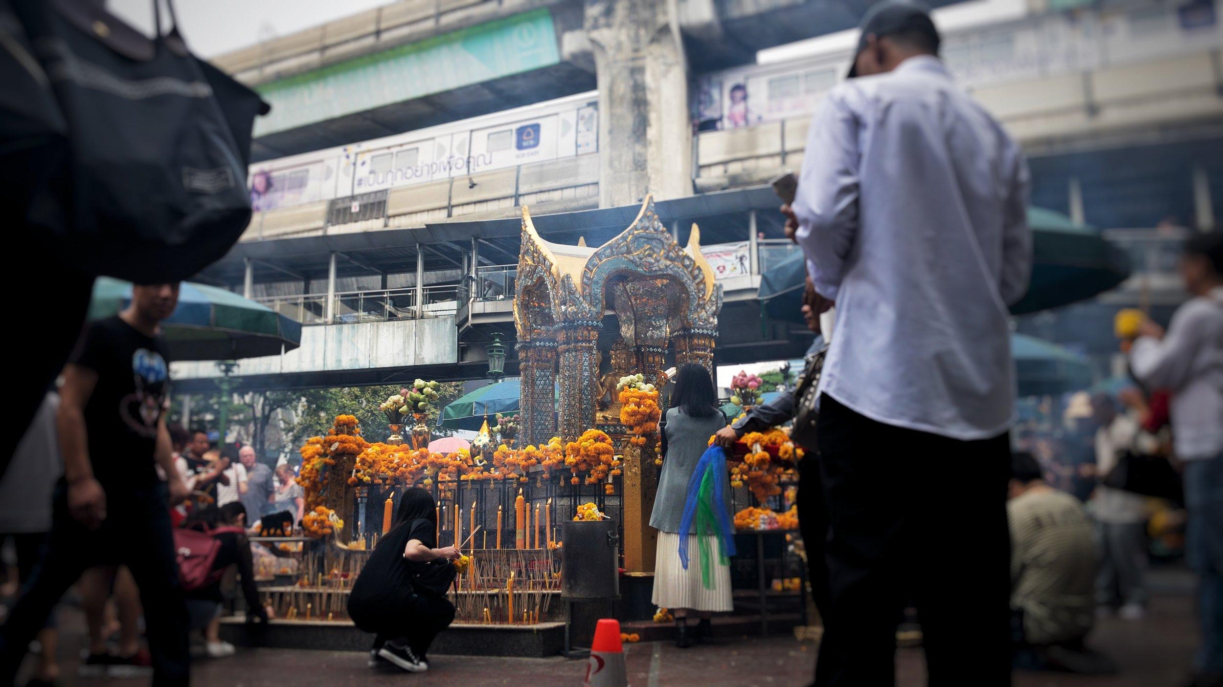 The Four Faces Pagoda in Bangkok, Thailand.