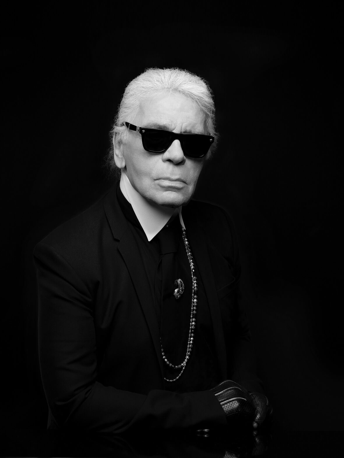 Karl Lagerfeld, self portrait.