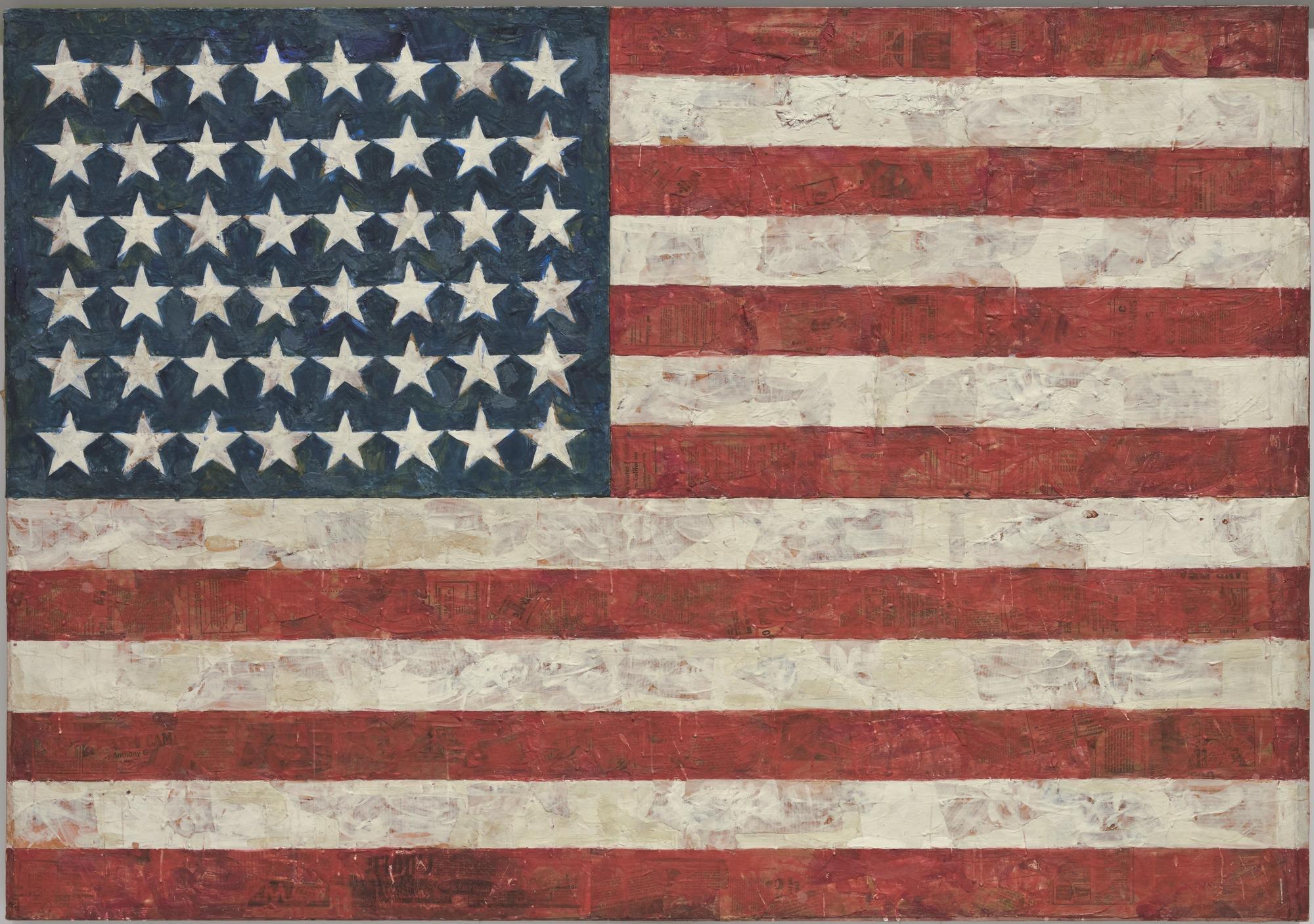 Jasper Johns, Flag 1954 - 1955
