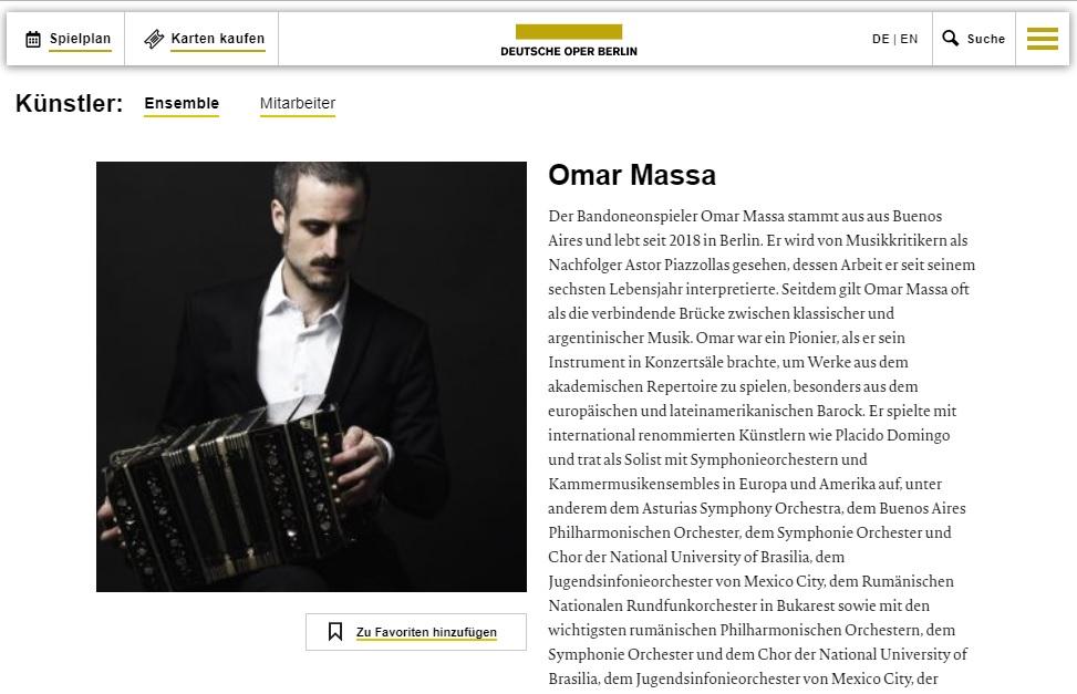 Omar Massa on DeutscheOper.com