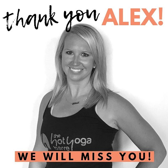 There aren't words to express how much we'll miss one of our HYB OG's, Alex! Congratulations on your engagement and upcoming move, and thank you for all you've given to HYB over the years 🧡 Alex's last class will be Hot Barre Blast Express Tuesday 7/30 at 5:30 AM, don't miss it!