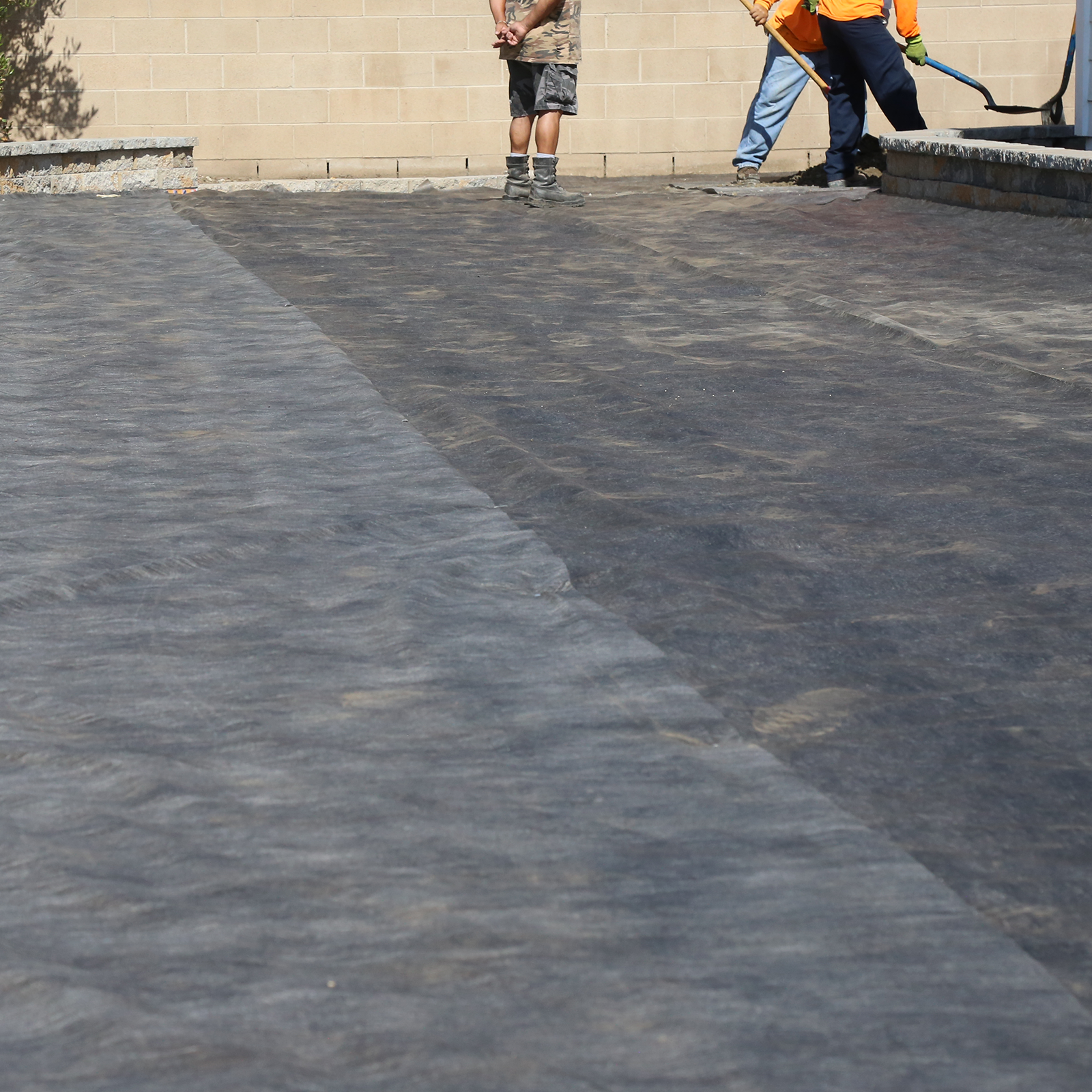 Sheet Asphalt - A hot mixture of asphalt binder with clean, angular, graded sand and mineral filler. Its use is ordinarily confined to reservoir liners and landfill caps; usually laid on an intermediate or leveling course.