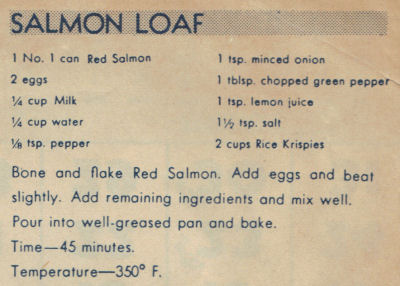 This vintage recipe was published on the back of a calendar page dated 1942, it was found in a large collection.  Courtesy: Recipe Curio.