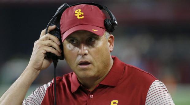University of Southern California Head Football Coach Clay Helton