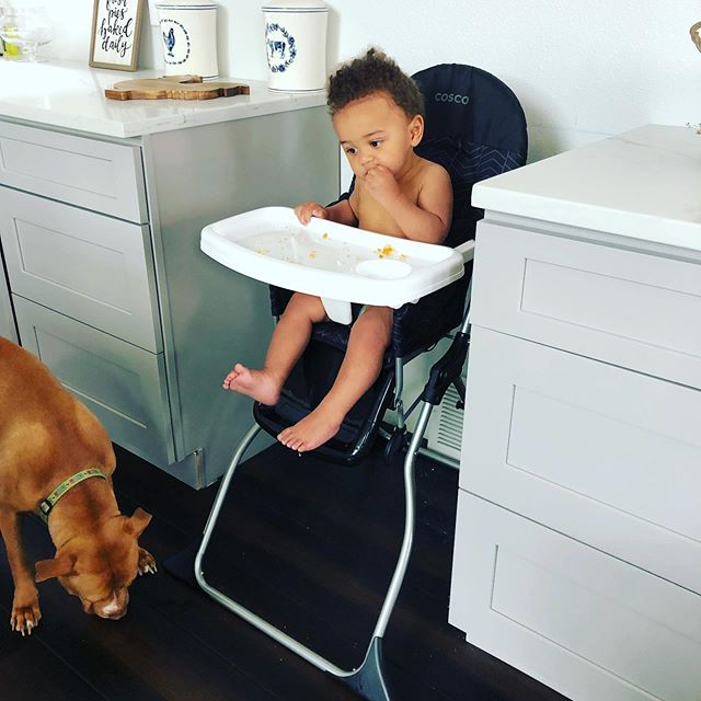 Nothing like sharing a snack with your favorite girl 🐶 . . . No worries mom she'll clean up the mess 🧼 . . . #samanthaandthecity #mom #momma #mommasboy #boymom #motherhood #baby #babymodel #babiesofinstagram #mixed #curlyhair #mixedbaby #babyboy #cuteboy #denverblogger #blog #blogger #pitbull #puppiesandbabies #contentcreator #content #lovewhatyoudo #igers #photooftheday