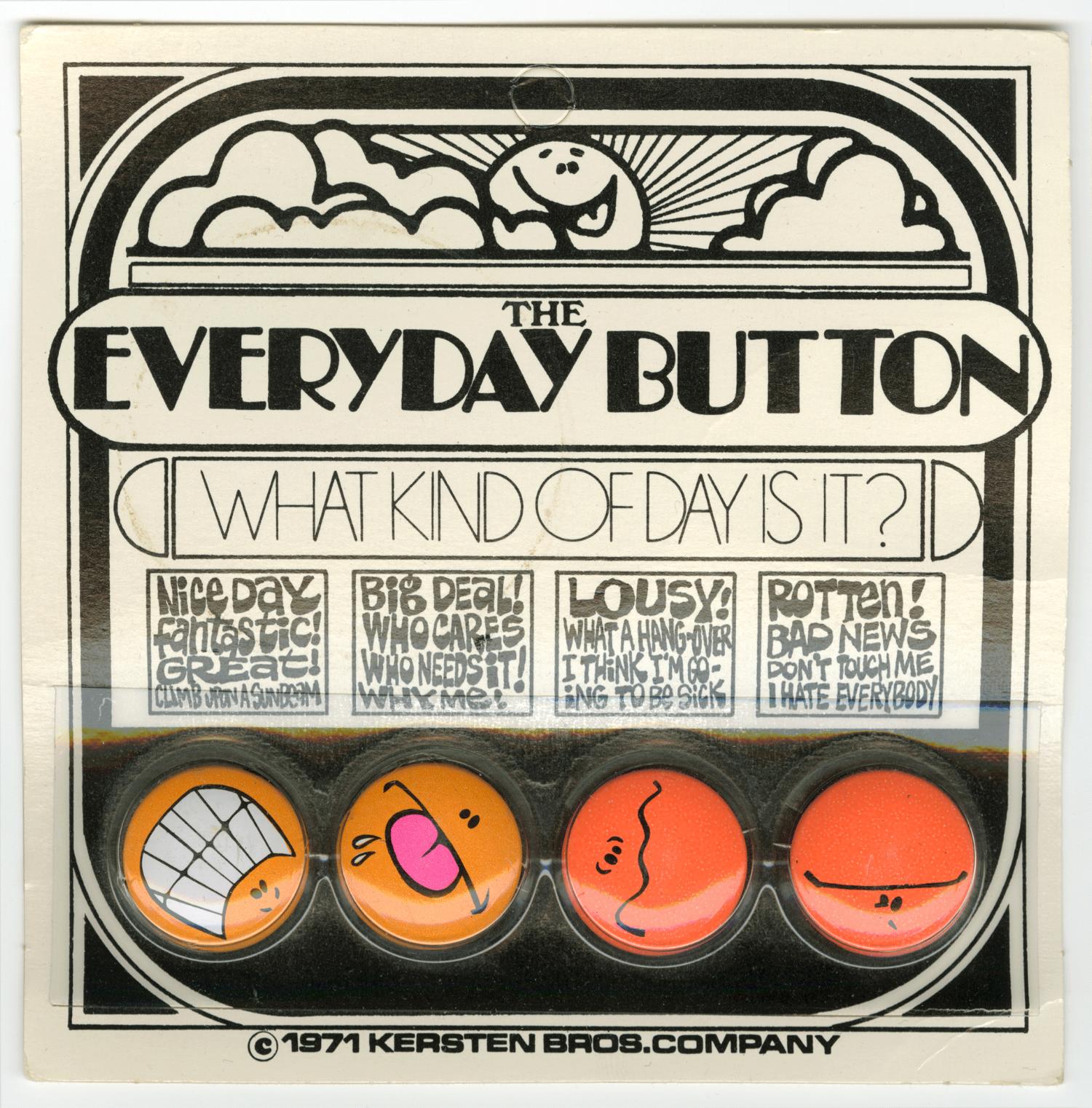 Everyday Button Pack. Kersten Bros. 1971.