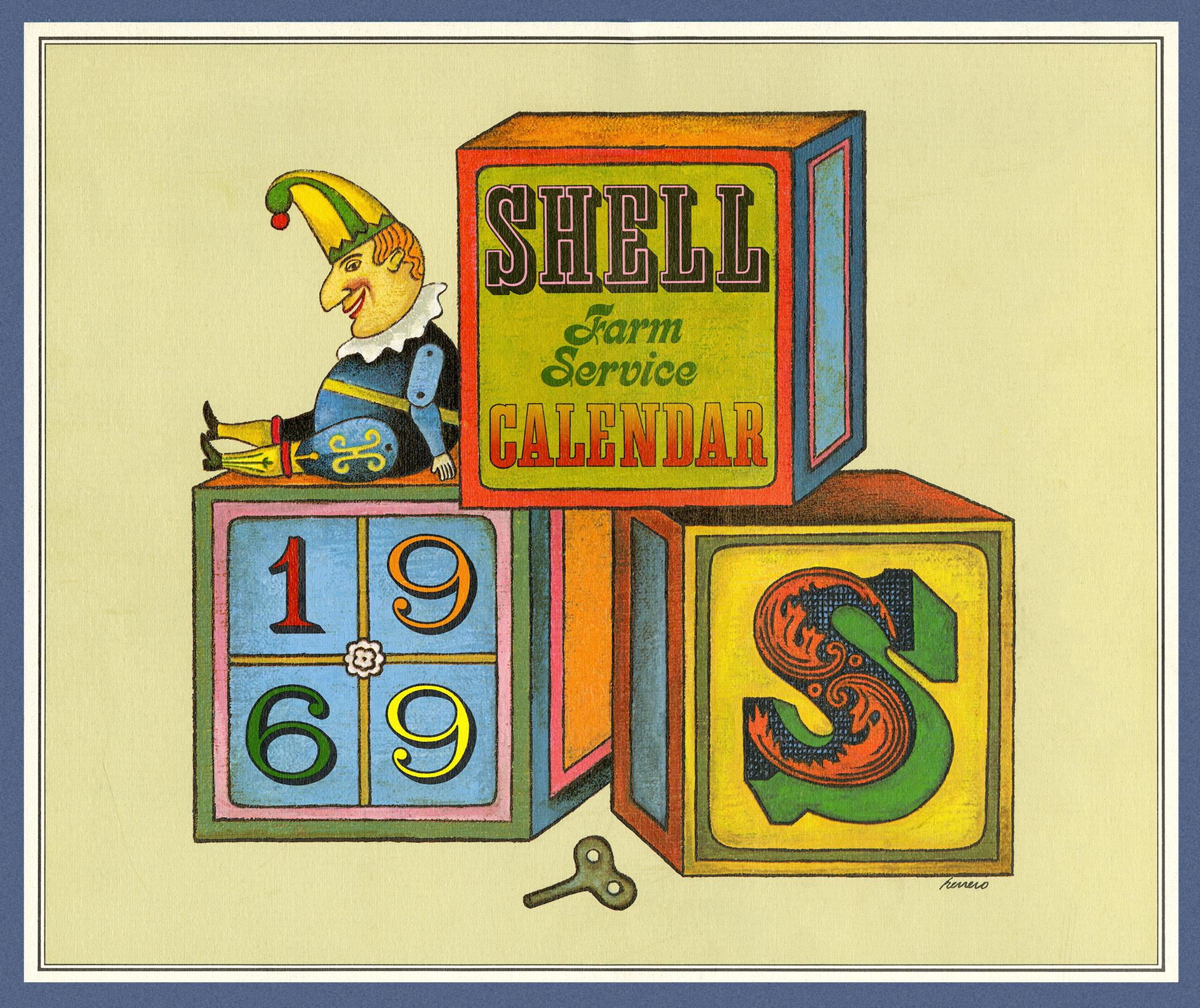 1969 SHELL CALENDAR